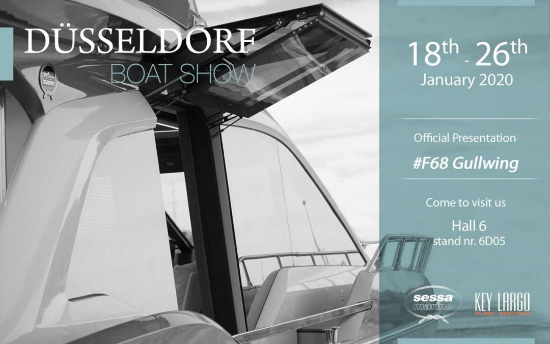 Sessa Fly68 Gullwing at Dusseldorf bootshow 2020!